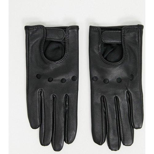 Gants en cuir à découpes pour écran tactile - ASOS DESIGN - Modalova
