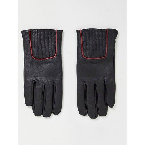 Gants en cuir avec liseré rouge - ASOS DESIGN - Modalova