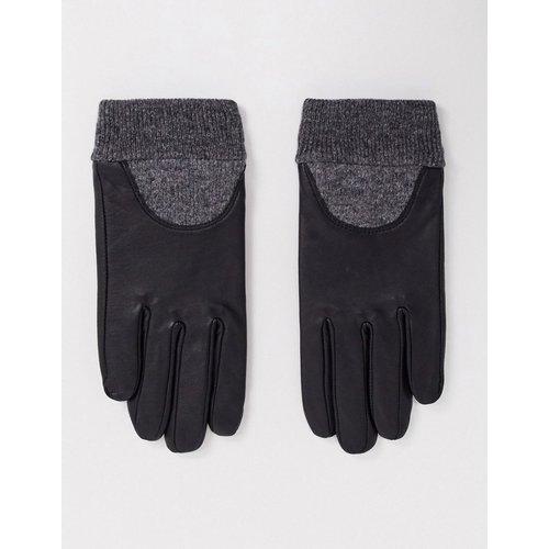 Gants en cuir pour écran tactile à poignets côtelés - ASOS DESIGN - Modalova