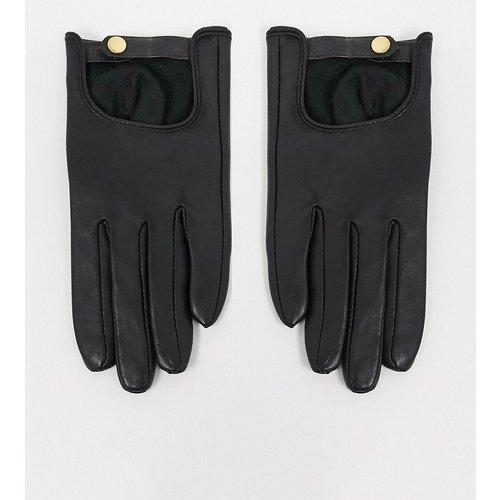 Gants en cuir uni pour écran tactile - ASOS DESIGN - Modalova