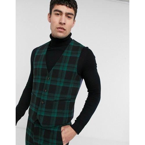 Gilet de costume super ajusté en laine mélangée à motif carreaux écossais - ASOS DESIGN - Modalova