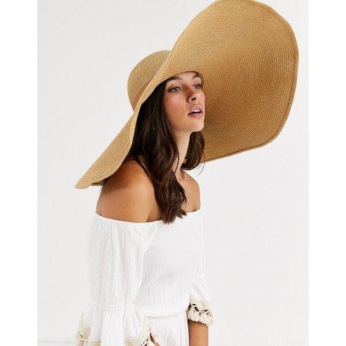 Grand chapeau de paille avec tour de tête ajustable - ASOS DESIGN - Modalova
