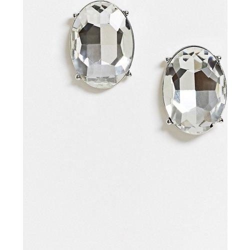 Grandes boucles d'oreilles ovales serties de cristaux - ASOS DESIGN - Modalova