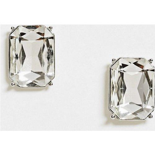 Grandes boucles d'oreilles rectangulaires ornées de cristaux - ASOS DESIGN - Modalova