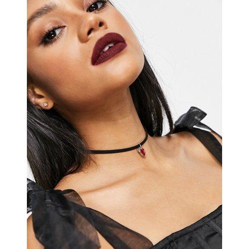 Halloween - Collier ras de cou avec pendentif cœur diabolique - ASOS DESIGN - Modalova