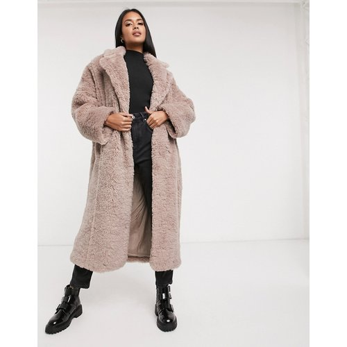 Hero - Manteau long en fausse fourrure - Mauve - ASOS DESIGN - Modalova