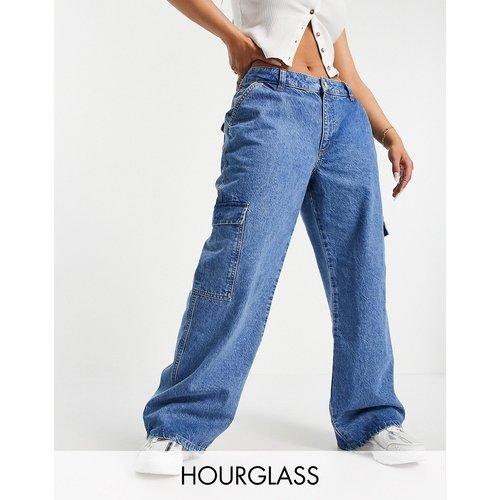 Hourglass - Jean dad ultra décontracté taille basse à poches plaquées en coton biologique mélangé - Délavage clair - ASOS DESIGN - Modalova
