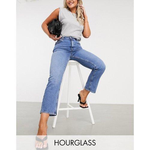 Hourglass - Jean slim droit stretch taille haute à délavage vintage - ASOS DESIGN - Modalova