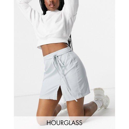 Hourglass - Jupe portefeuille en denim doux - ASOS DESIGN - Modalova
