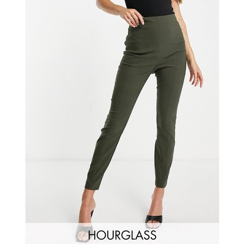 Hourglass - Pantalon taille haute skinny - Kaki - ASOS DESIGN - Modalova