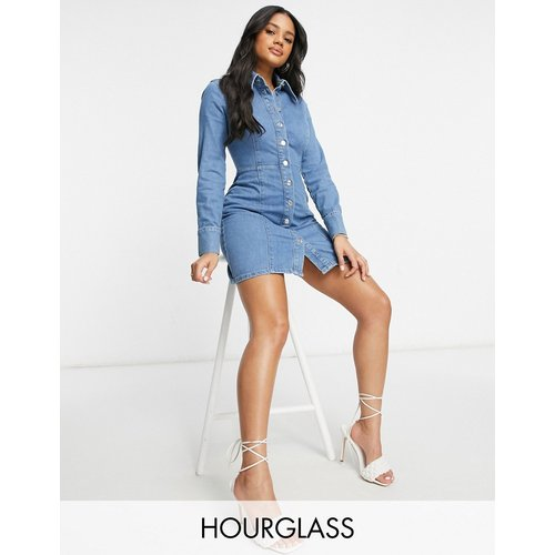 Hourglass - Robe chemise ajustée en jean - vif - ASOS DESIGN - Modalova