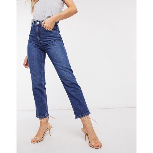 Jean slim stretch coupe droite à taille haute - Délavage foncé - ASOS DESIGN - Modalova