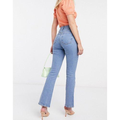 Jean stretch évasé taille haute style années70 - Délavage moyen - ASOS DESIGN - Modalova