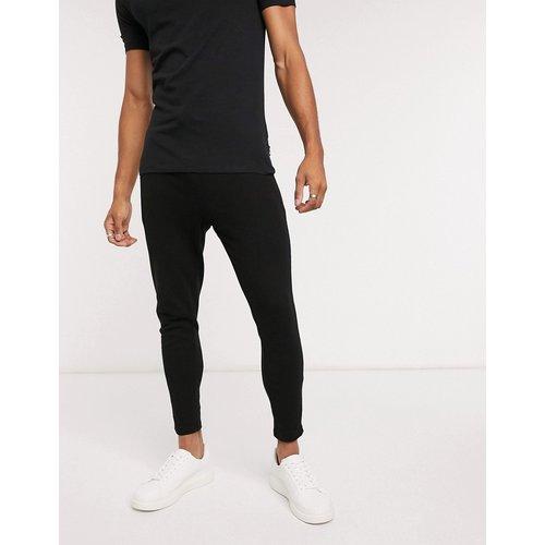 Jogger skinny habillé d'ensemble en tissu gaufré avec ceinture contrastante - ASOS DESIGN - Modalova