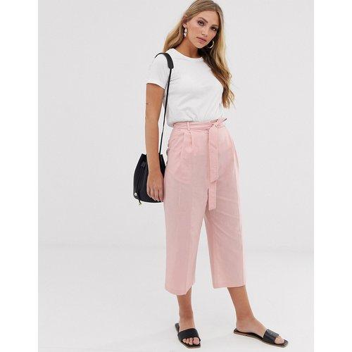 Jupe-culotte en lin nouée à la taille - ASOS DESIGN - Modalova