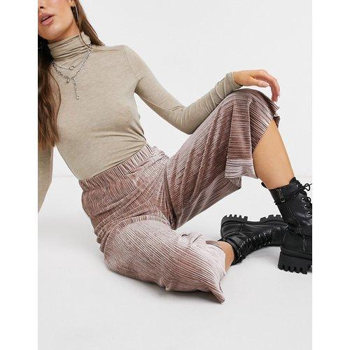 Jupe-culotte plissée en velours - ASOS DESIGN - Modalova