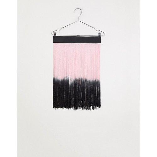 Jupe frangée dégradée avec ceinture - Noir et rose - ASOS DESIGN - Modalova