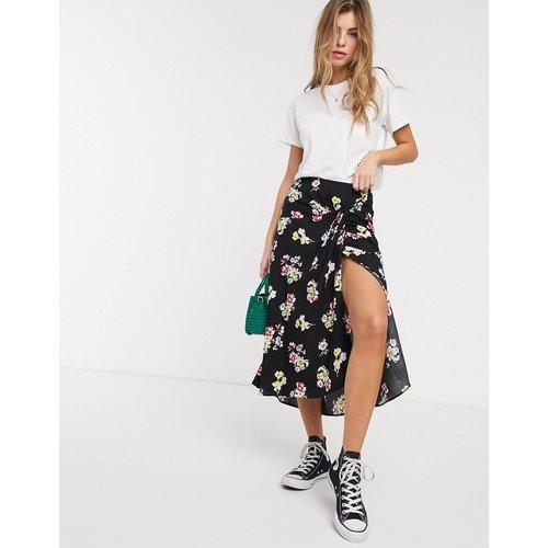 Jupe mi-longue portefeuille à fleurs - ASOS DESIGN - Modalova