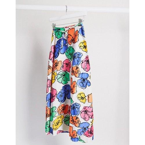 Jupe portefeuille mi-longue à fleurs - ASOS DESIGN - Modalova