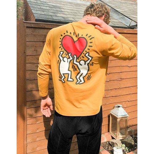 Keith Haring - T-shirt manches longues décontracté avec grand imprimé au dos - ASOS DESIGN - Modalova