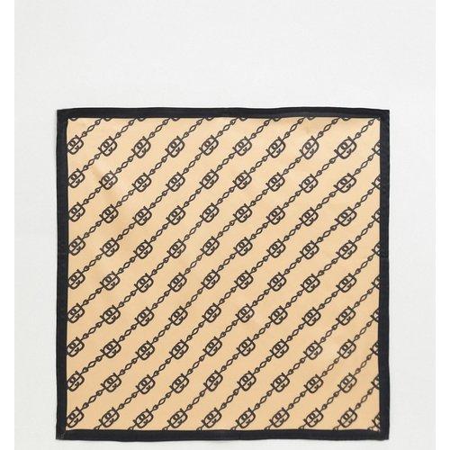 Large foulard carré en satin et polyester à imprimé chaînes - ASOS DESIGN - Modalova