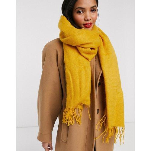Longue écharpe tissée ultra douce avec franges - Moutarde - ASOS DESIGN - Modalova