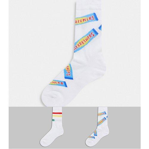 Lot de 2 chaussettes de sport à motifs douceurs sucrées - ASOS DESIGN - Modalova