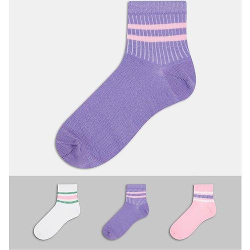Lot de 3 paires de chaussettes à rayures - ASOS DESIGN - Modalova