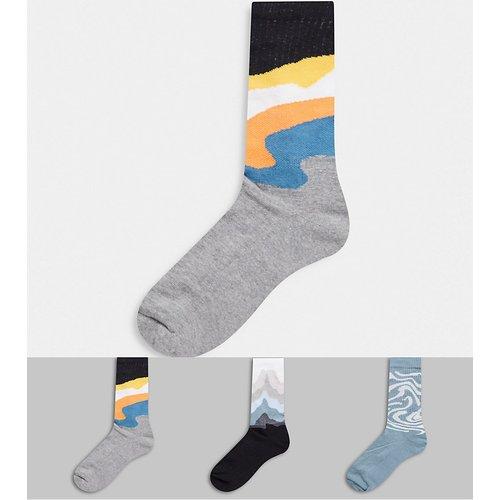 Lot de 3 paires de chaussettes de sport à motifs et couleurs pastel - ASOS DESIGN - Modalova