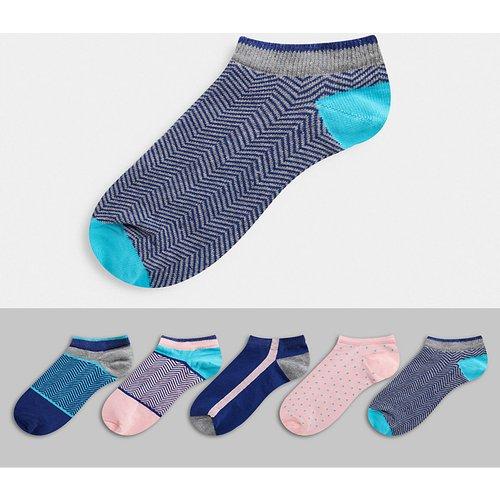 Lot de 5 paires de chaussettes de sport à motifs variés - ASOS DESIGN - Modalova