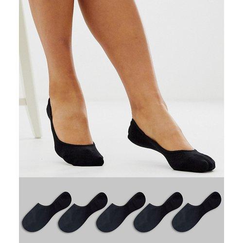 Lot de 5 paires de chaussettes invisibles avec bande adhérente à l'arrière - ASOS DESIGN - Modalova