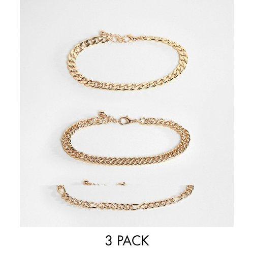 Lot de bracelets chaîne style vintage - ASOS DESIGN - Modalova