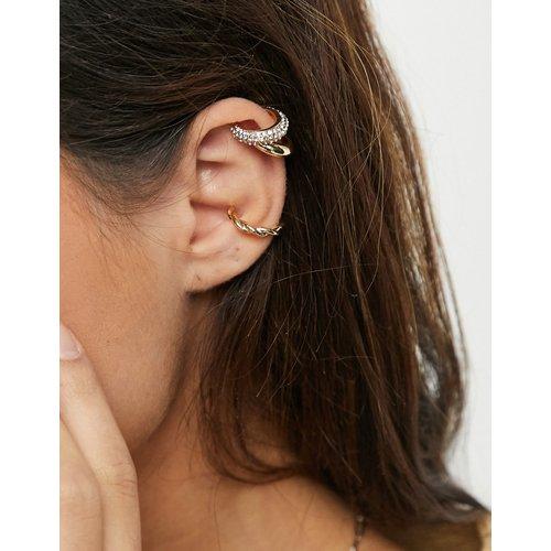 Lot de six bijoux d'oreille torsadés et larges - ASOS DESIGN - Modalova