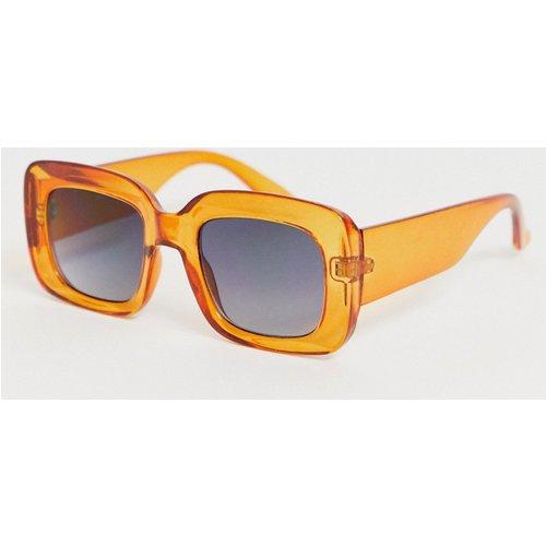 Lunettes de soleil carrées - Orange - ASOS DESIGN - Modalova
