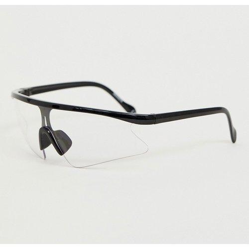Lunettes de soleil masque à verres transparents - ASOS DESIGN - Modalova
