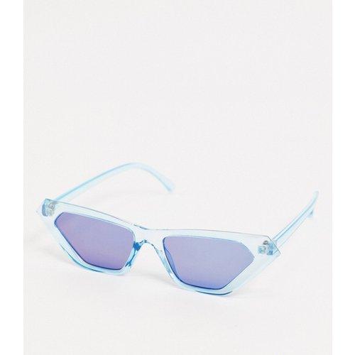Lunettes de soleil yeux de chat avec verres miroir - métallisé - ASOS DESIGN - Modalova