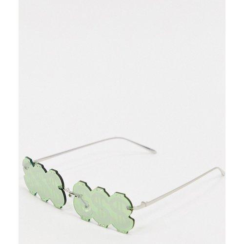 Lunettes tendance ornées avec signe dollars - Vert - ASOS DESIGN - Modalova