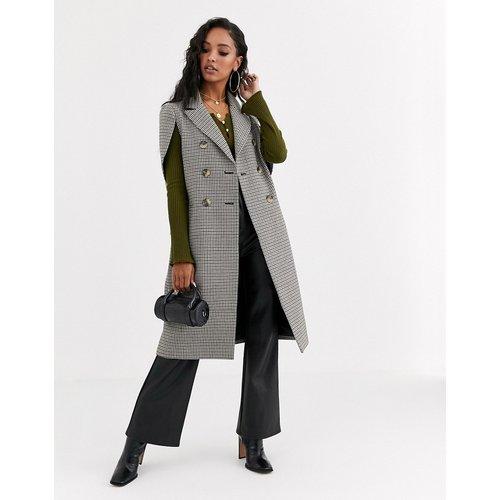 Manteau cape habillé à carreaux - ASOS DESIGN - Modalova