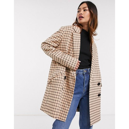 Manteau dad oversize à carreaux - ASOS DESIGN - Modalova
