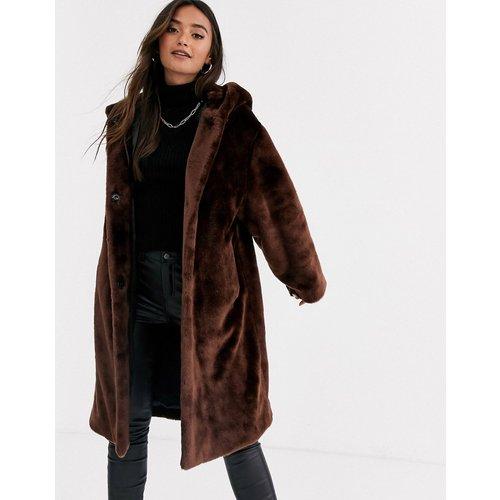 Manteau en fausse fourrure effet pelucheux avec capuche - ASOS DESIGN - Modalova