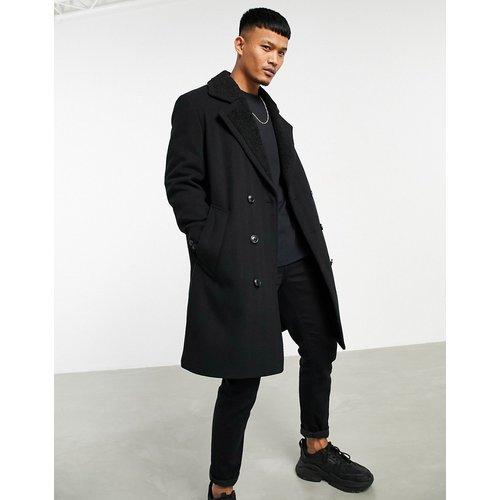 Manteau en laine mélangée avec doublure duveteuse - ASOS DESIGN - Modalova