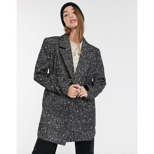 Manteau grandad avec coutures apparentes - Monochrome - ASOS DESIGN - Modalova