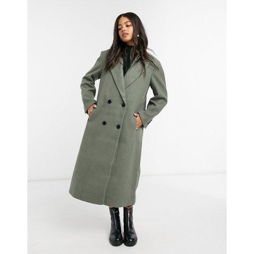 Manteau long avec épaules renforcées - Sauge - ASOS DESIGN - Modalova