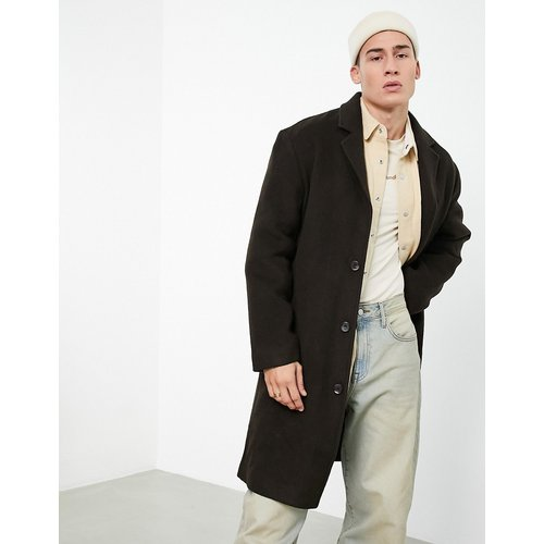 Manteau long coupe décontractée en laine mélangée - ASOS DESIGN - Modalova