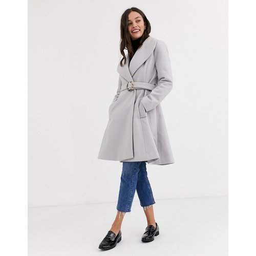 Manteau long coupe patineuse avec ceinture - ASOS DESIGN - Modalova
