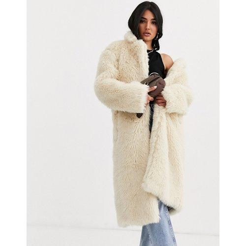 Manteau long en fausse fourrure - ASOS DESIGN - Modalova