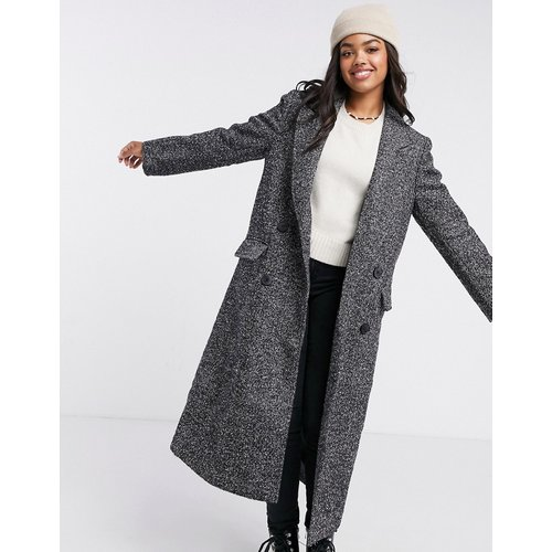 Manteau long - Noir et blanc - ASOS DESIGN - Modalova