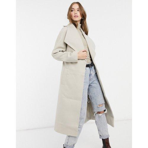 Manteau long patineuse avec ceinture - ASOS DESIGN - Modalova