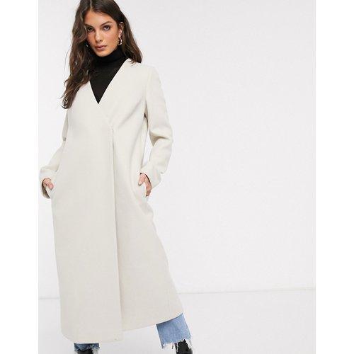 Manteau sans col à ceinture - ASOS DESIGN - Modalova