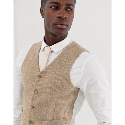 Mariage - Veston de costume slim en tweed Harris 100%laine - Fauve - ASOS DESIGN - Modalova